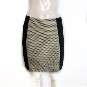 Loft black and gold skirt size double O petite